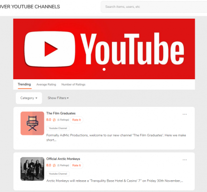(v.19.12.12) Rate and Review Youtube Channels!